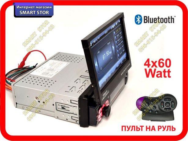 """Автомагнитола 1DIN Pioneer 7130, выдвижной экран 7"""", пульт на руль BT"""