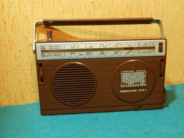 """Радиоприёмник """"Россия 303-1"""" Рабочий, чистый."""