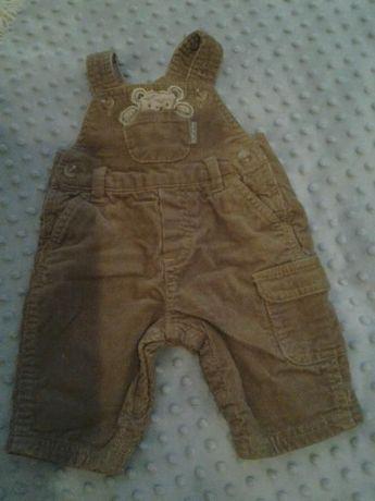 sztruksowe spodnie,spodnie,ogrodniczki r.62