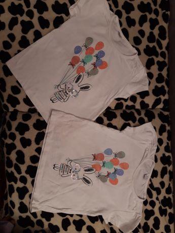 Bluzeczki dla bliźniaczek 92