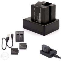 Carregador Duplo USB + 2 Baterias SJ4000 e SJ5000 -Novo-Portes Grátis