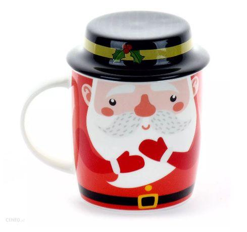 Nowy świąteczny kubek mikołaj gwiazdor z kapeluszem 330 ml