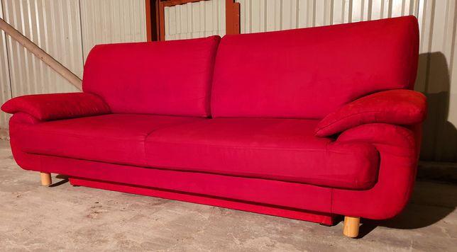 Czerwona kanapa sofa łóżko rozkladane stan BDB Mozliwy Transport