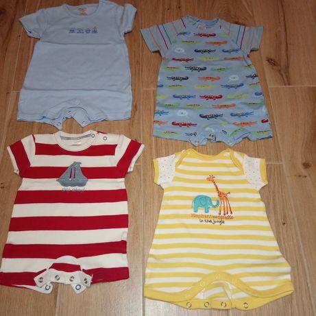 Ubranka chłopięce, body, rampersy, bluzy i sweterki. R. 62/68 Zestaw