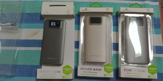 Powerbank bateria externa 12800mah Novas em caixa