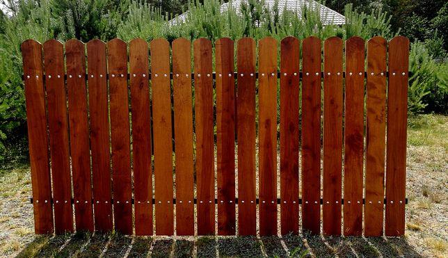 Sztachety olchowe heblowane szlifowane malowane drewniane balaski