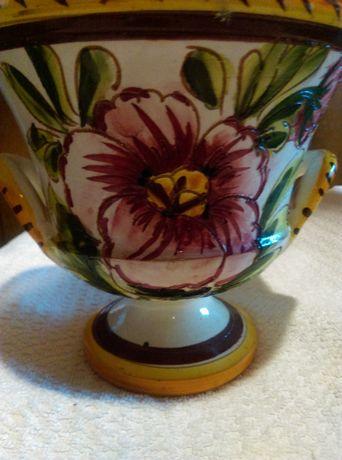 Wazon ceramika fajans ręcznie malowany