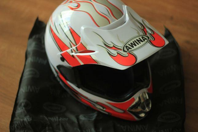 Kask motocyklowy AWINA cross enduro szczękowy rozmiar L
