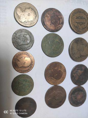 Lote de 13 moedas antigas