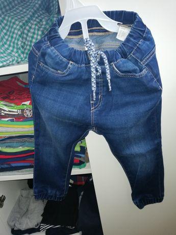 Spodnie chłopięce jeansowe nowe  joggery  92 hm
