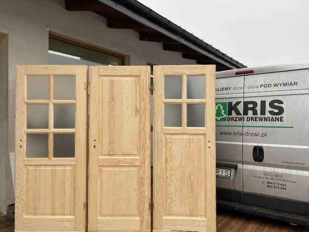 Drzwi drewniane 100% sosnowe z oscieżnicą Kris Dostawa Cały Kraj