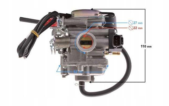 Gaźnik Elektroniczny 4T 50ccm Euro4 Romet Sym Zipp NOWY