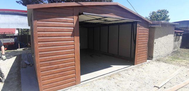 Garaż jednostanowiskowy, blaszak, wiata , garaż blaszany drewnopodobny