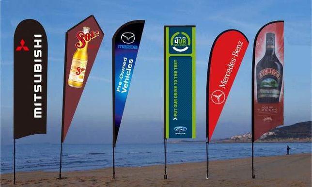 Bandeira Eventos Desportivos tipo gota 3.45 m