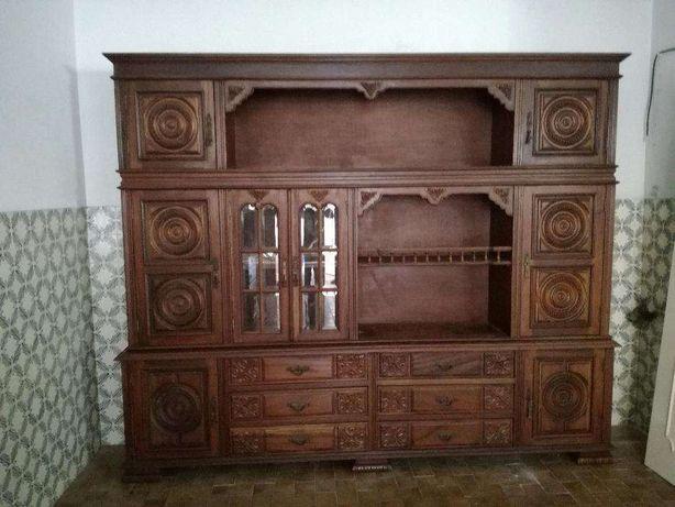 móvel de casa de jantar madeira maciça