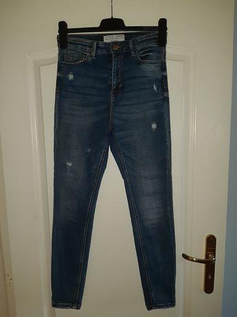 Spodnie jeansowe z wysokim stanem Stradivarius
