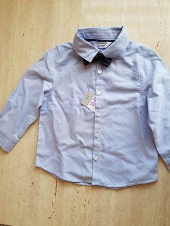 Koszulka wizytowa z muszką 86cm Primark