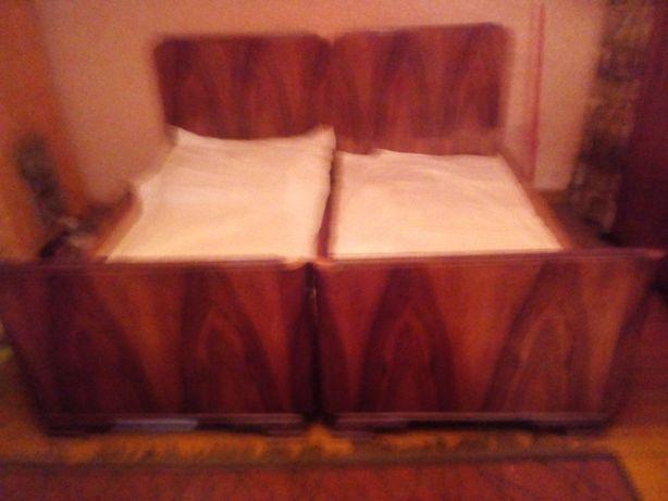 Stare łóżko podwójne (PRL, retro, antyk, staroć)