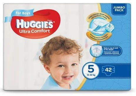 Подгузники Huggies (Хаггис)  Ultra Comfort для мальчиков 5 (12-22 кг)