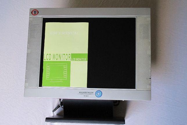 """Monitor LCD HighScreen 15"""" (z wbudowanymi głośnikami)"""