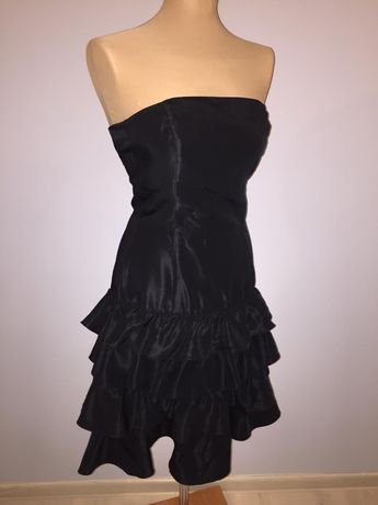 Sukienka krótka czarna ZARA na półmetek