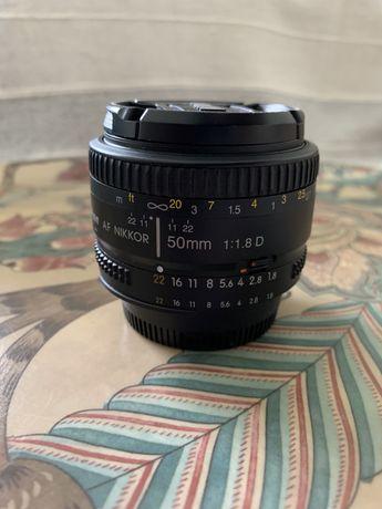 Lente Nikon AF D 50mm 1.8