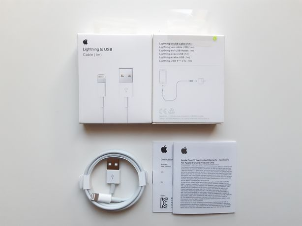 Kabel Ładowarka USB Apple Lightning 1M do iPhone 6/7/8/X/11/12