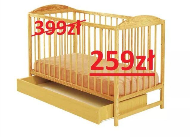 Nowe łóżeczko DREWEX Kuba II z szufladą