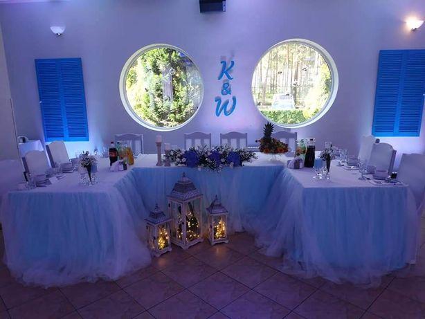 Inicjały K & W - dekoracja ślubna