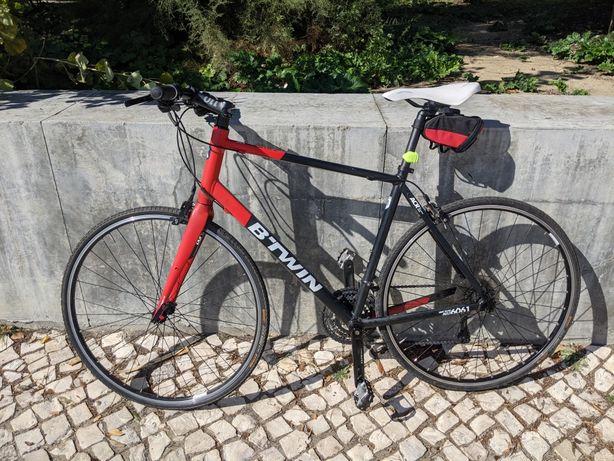 Bicicleta estrada b'twin quadro L 56 roda 28