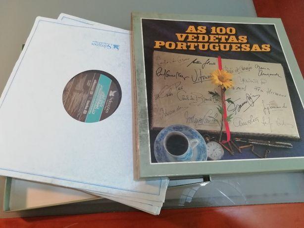As 100 vedetas Portuguesas 8 discos Vinil Selecções Reader`s Digest