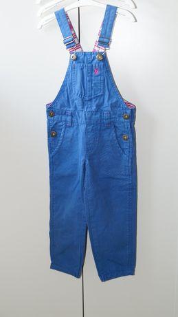 Spodnie ogrodniczki dla dziewczynki firmy Joules r. 98