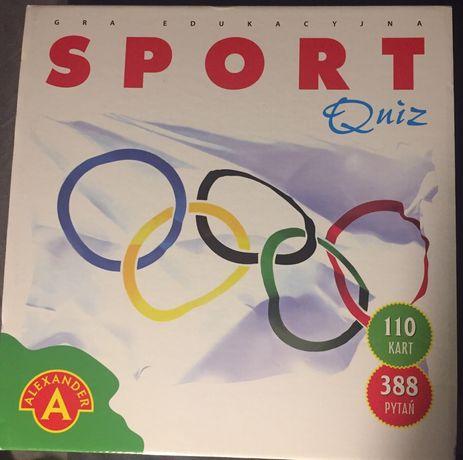 """Sport. Gra edukacyjna. quiz"" - 110 kart - 388 pytań - ALEXANDER"
