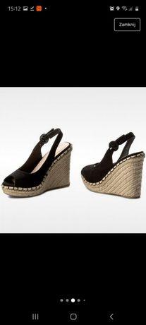 Sandały koturny r37 ccc