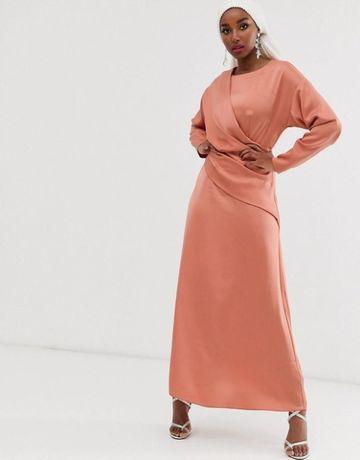 (38) ASOS/ Wytworna, długa sukienka wieczorowa z Londynu/ NOWA
