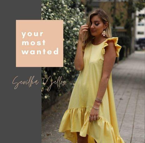 Vestido amarelo Baguy