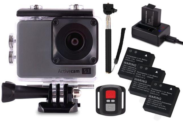Nowa Kamera Sportowa OVERMAX ACTIVECAM 5.1 4K WiFi KIJ Selfie Stick FV