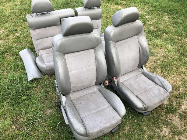 VW Passat B5 Kombi fotele półskóra komplet zestaw