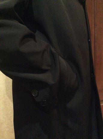 Пальто от Воронина в деловом стиле. Воротник из бобра зимнее, демисезо