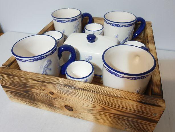 Zestaw śniadaniowy ceramika morska prezent