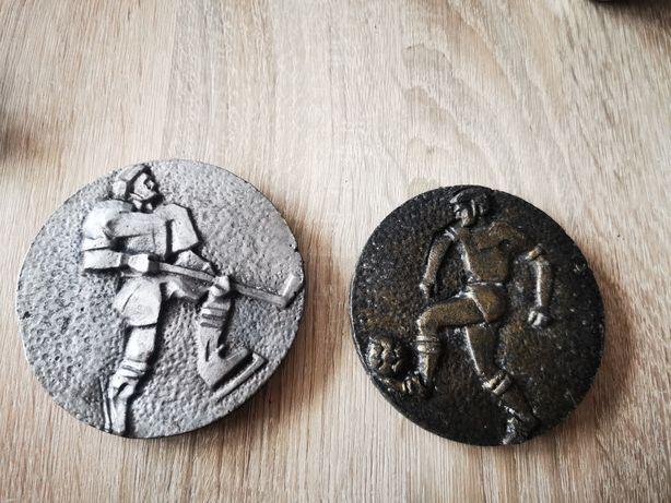 Blaszki, medale hokej i piłka nożna PRL