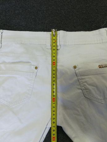 Spodnie letnie biale S biodrówki