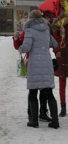 Пуховик пальто куртка 44