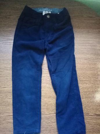 Spodnie Sztruksy dla chlopca 5,6 lat