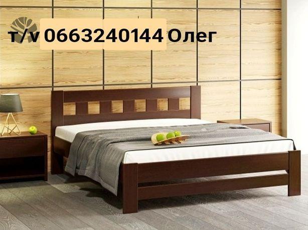 Кровать двуспальная Сакура из дерева, полуторная односпальная кровать