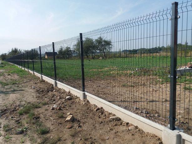 Ogrodzenia panelowe Siatka ogrodzeniowa Podmurówka betonowa MONTAŻ
