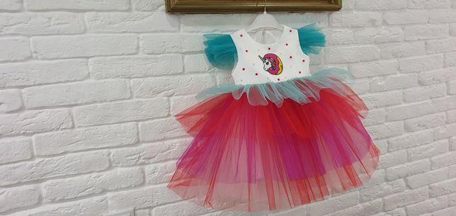 Платья для девочки  в стиле единорога