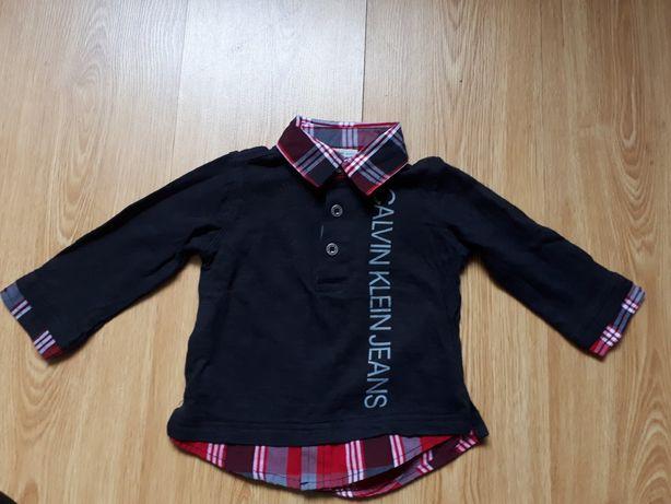 Дитяча сорочка Calvin Klein Jeans на 12 місяців поло оригінал