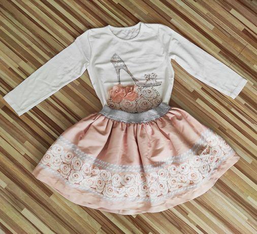Komplet dziewczęcy spódniczka i bluzeczka nowy r.110-116