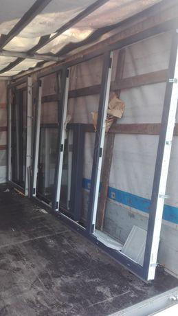 Okno drzwi tarasowe witryna - przeszklenie salonu Nowe 3 szybowe 330cm